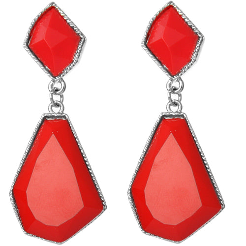 Red Bubble Earrings