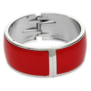 Red Lightweight Hinged Bracelet