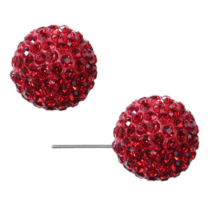 Red Large Fireball Stud Earrings