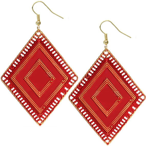 Red Relect Earrings