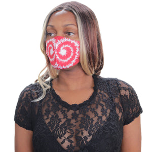 Red Swirl Pattern Face Mask