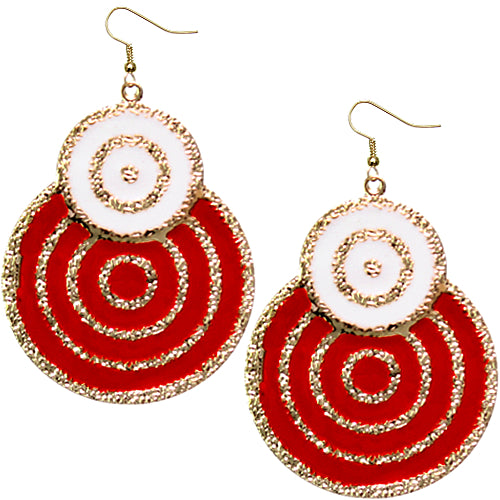 Red Swirl Earrings