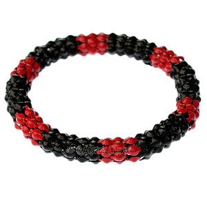 Red Black Connected Stretch Bracelet
