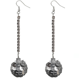 Silver Confetti Ball Chain Earrings