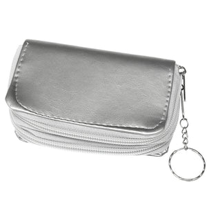 Silver Double Pocket Key Chain Wallet
