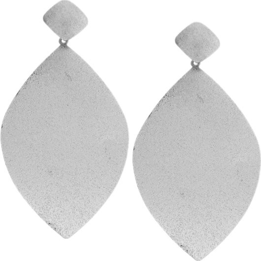 Silver frost drop earrings