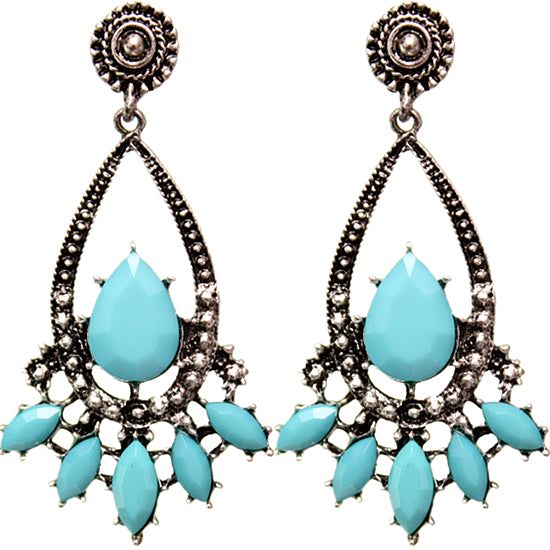 Turquoise Faceted Earrings