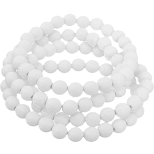 White 4-Piece Beaded Stretch Bracelets