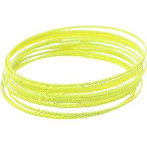 Yellow 11-Piece Thin Stacked Bracelets
