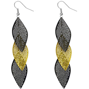 Yellow Almond-shaped Earrings