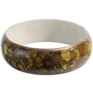 Yellow Grunge Textured Bangle Bracelet