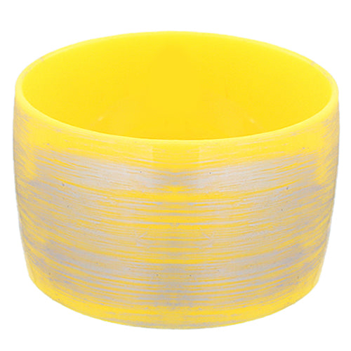 Yellow Large Wide Bangle Bracelet