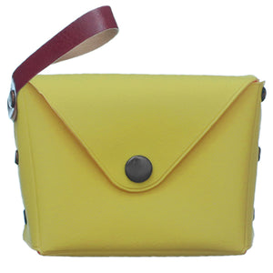 Yellow Mini Wristlet Wallet