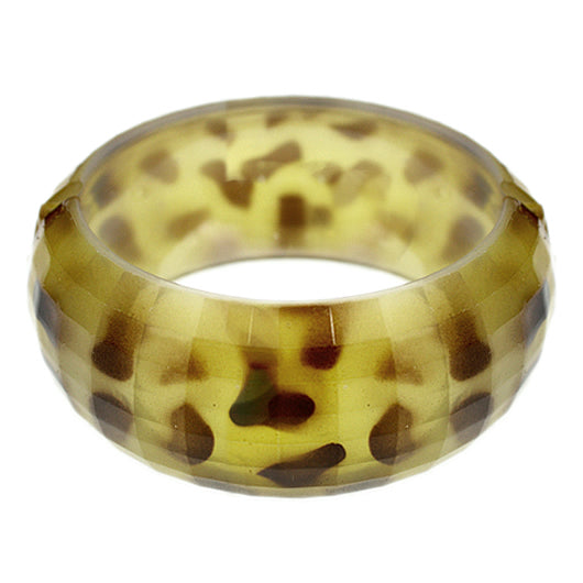 Yellow Spotted Cheetah Hinged Bracelet