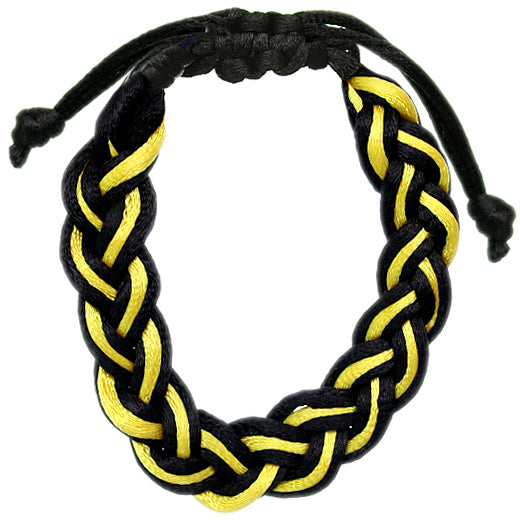 Yellow Adjustable Braided Friendship Bracelet