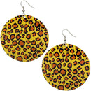 Yellow Round Thin Spotted Earrings