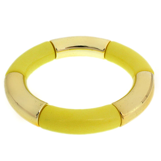 Yellow Glossy Stretch Tube Bracelet