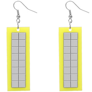 Yellow Triangle Earrings