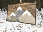 Three Sisters Mountains Dark Walnut