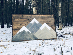 Three Sisters Mountains 5 x 3 FEET