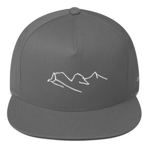 Three Sisters Mountains Flat Bill Cap