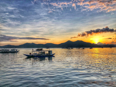 coron public market water view sunset