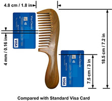 Wide Toothed Natural Sandal Wood Comb