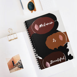 Melanin is Beautiful Spiral Notebook
