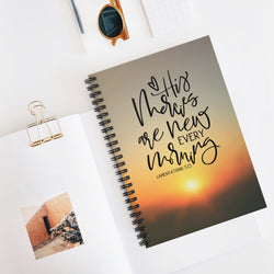 His Mercies Spiral Notebook