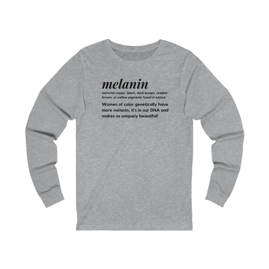 Melanin Definition Unisex  Long Sleeve Tee-Black Print