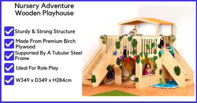 Nursery Adventure Wooden Playhouse