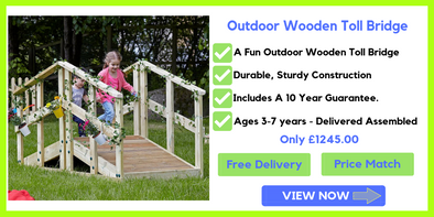 Playscapes Outdoor Wooden Toll Bridge