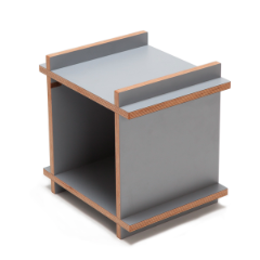 cube side table with empty middle for storage