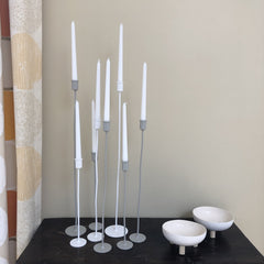 multiple candlesticks in varying heights