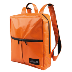 unique orange backpack water repellent material