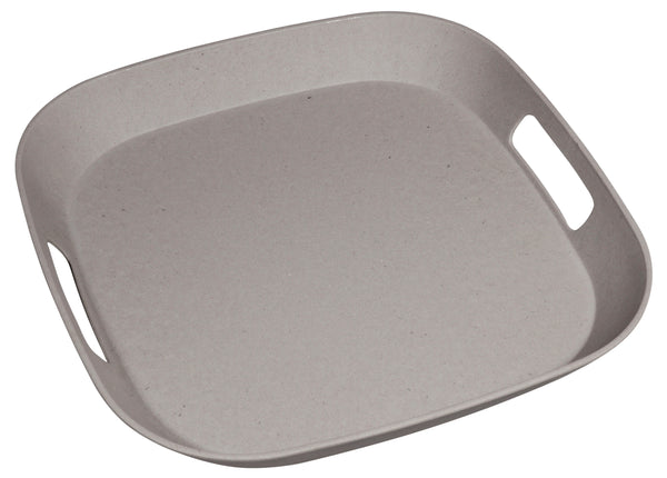 The Zuperzozial Foursquare serving tray in grey.