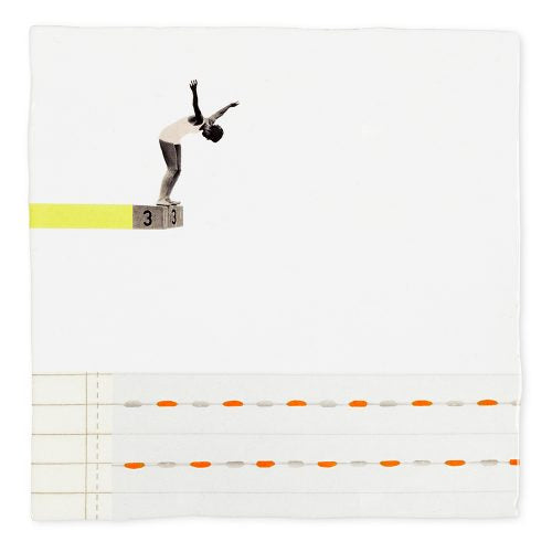 A LEAP OF FAITH - ART TILE - Uniek Living