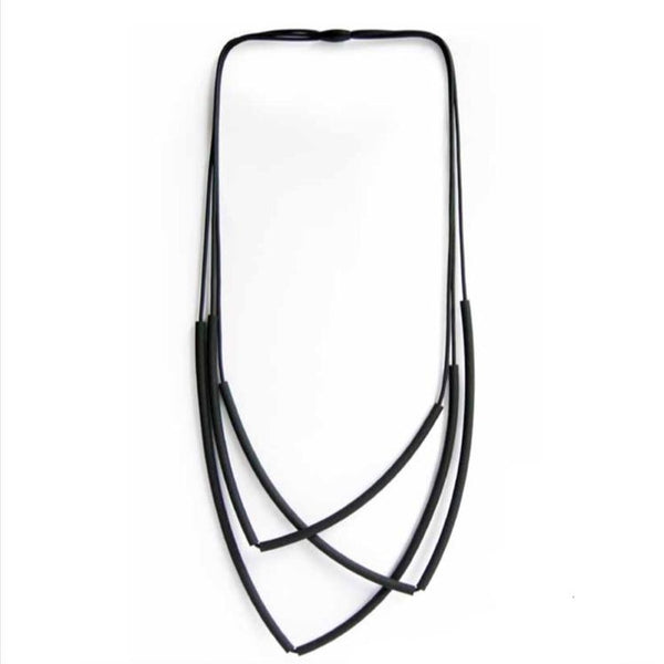 NECKLACE OF 3 LAYER 2 LONG  TUBES