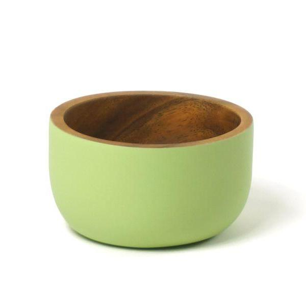 The small Acacia Bowl by Kinta in bamboo green.
