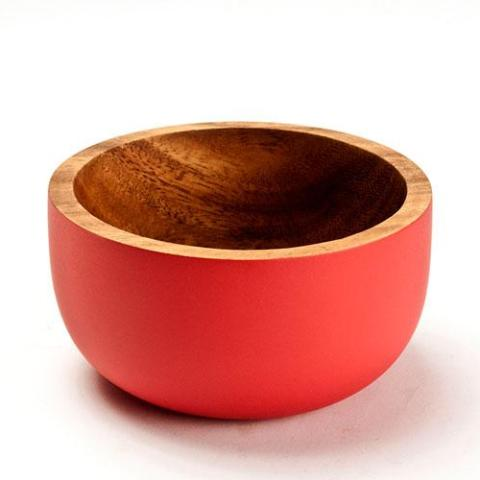 The small Acacia Bowl by Kinta in mat red.