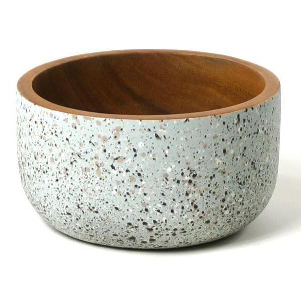 The large Acacia Bowl by Kinta in speckled grey and black.