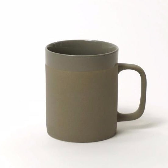 CER CYL MAT large mug with band by KINTA in grey.