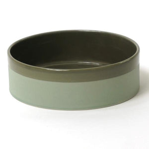 BOWL CER CYL MAT WITH BAND - LARGE - Uniek Living