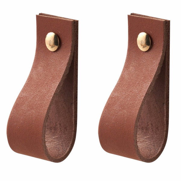 LEATHER HANDLES - SET OF 2 - Uniek Living