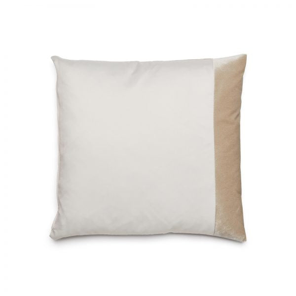 White Duo pillow by ONTWERPDUO against a white background.