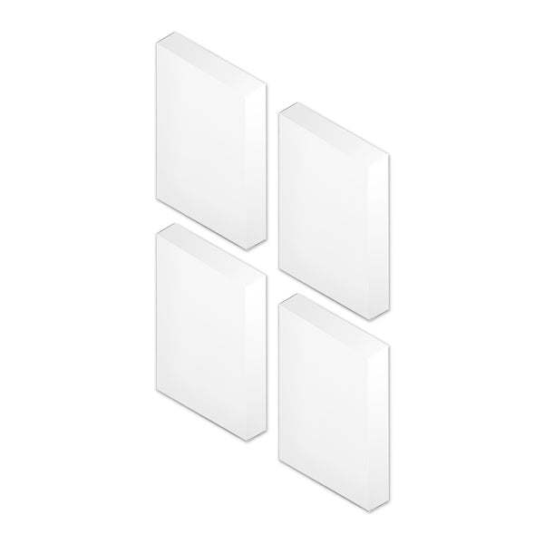 Four small Facett Mirrors by Puik arranged in a square.