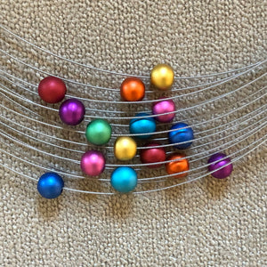Necklace metal 15 small balls - Uniek Living