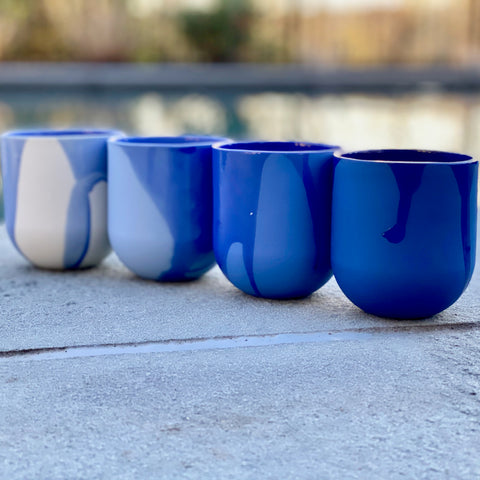 MUG - SUM GRADIENT  - RAW - set of 4