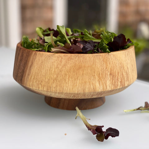 KINTA Footed Wooden Bowl