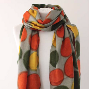 100% CASHMERE SCARF - BIG DOT